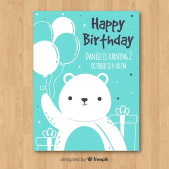 Template for children's birthday invitation