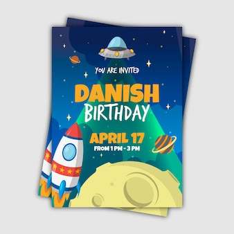 Template children's birthday invitation