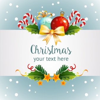 Template christmas with light decoration theme