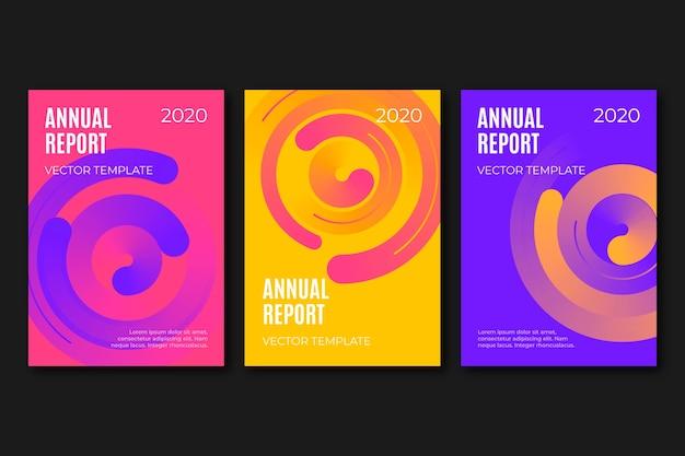 Шаблон красочный абстрактный годовой отчет