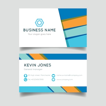 Template colorful abstract business card