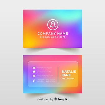 Template colorful gradient business card