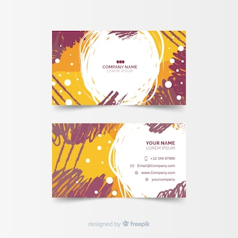 Template for colorful hand painted business card