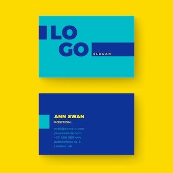 Template colorful minimal business card