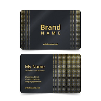 Template concept for business card