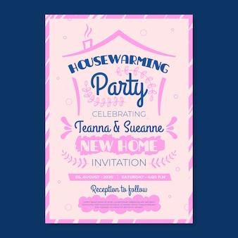新築祝いのパーティの招待状のテンプレートの概念