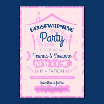 Template concept for housewarming party invitation