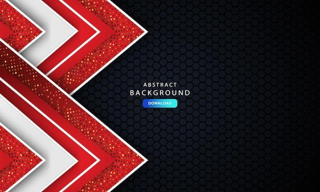 템플릿 기업 배너 개념 빨강 검정 회색 및 흰색 대비 배경. 우아한 컨셉 디자인