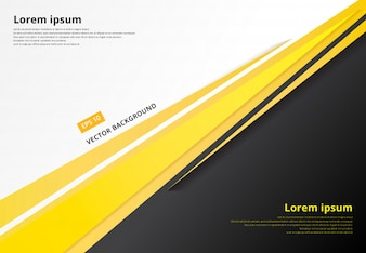 Template corporate yellow contrast background.