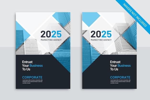 Шаблон обложки business marketing agency