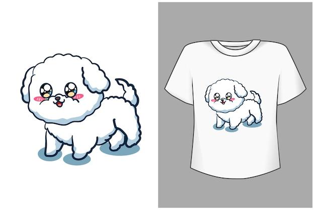 Шаблон милый и забавный мультфильм собака иллюстрации
