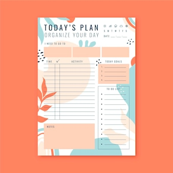 Template daily planner