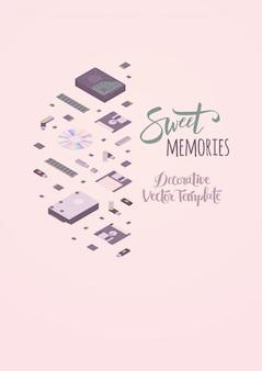Template decorating sweet memories