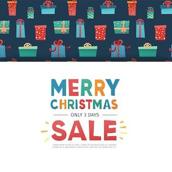 Template design banner for christmas offer