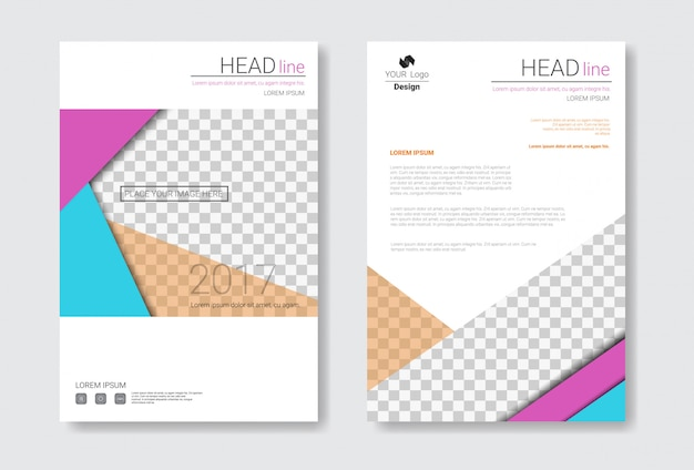 Template design brochure set