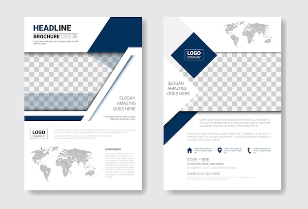 Template design brochure set