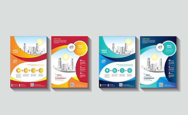 Template design for corporate presentation