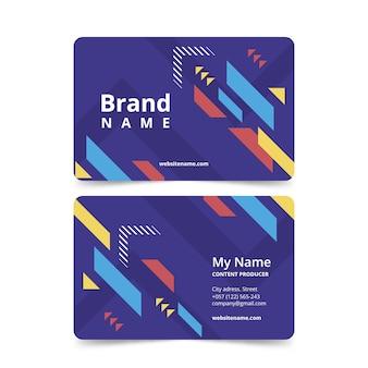 Шаблон дизайна для визитки