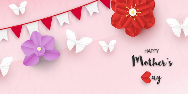 Template design for happy mother's day.