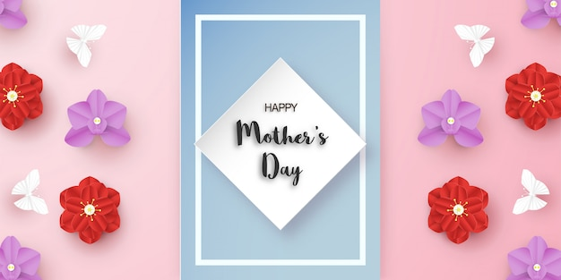 Template design for happy mother's day