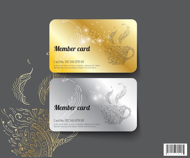 Template design member card