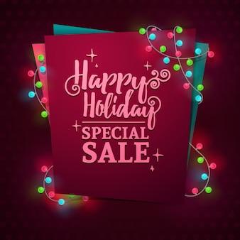 새해 판매를위한 템플릿 디자인 웹 배너