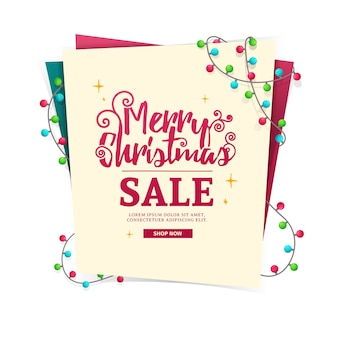 Template design web banner for the new year's sale