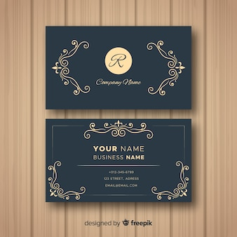 Template of elegant business card