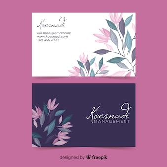 Template elegant business card