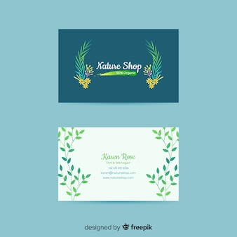 Template elegant business card