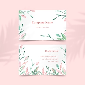 Template elegant floral business card
