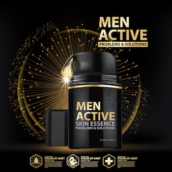 Template essence package design for men