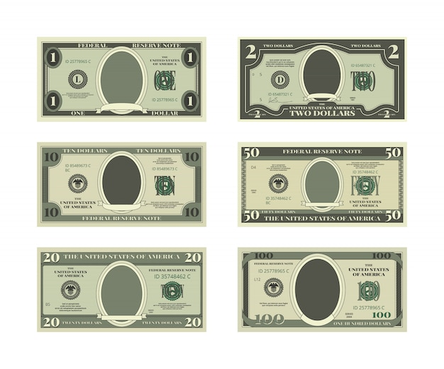 Template of fake money