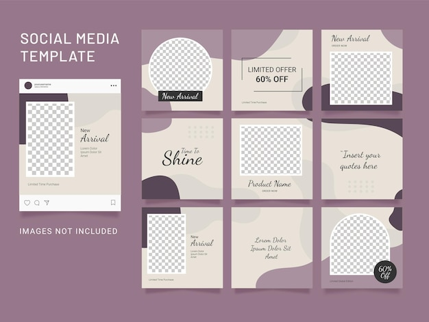 Template fashion   instagram feed puzzle