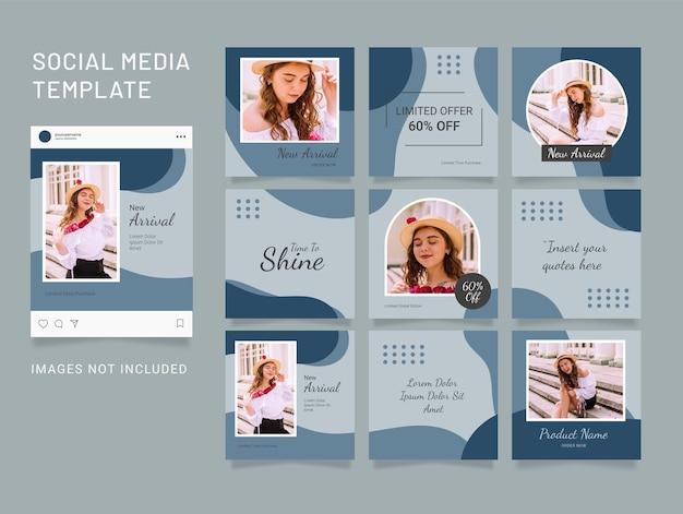 テンプレートファッションinstagramパズルソーシャルメディアフィード