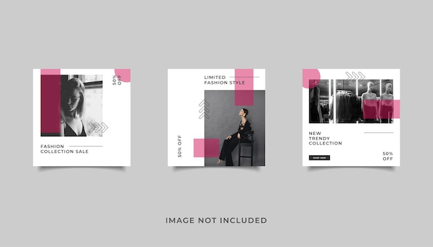 Template fashion sale for social media post