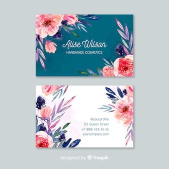 Template floral elegant business card