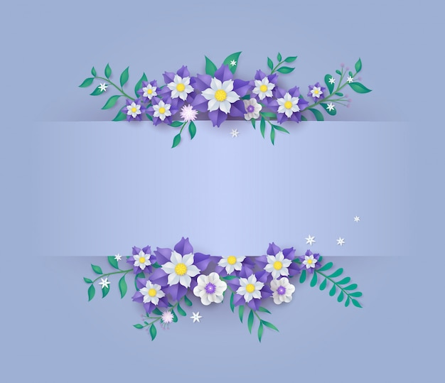 Template in flower paper cut design.