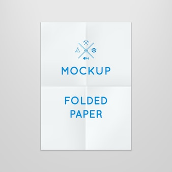 Template of folded poster