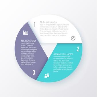 8つの部分の円グラフのテンプレート。事業コンセプト