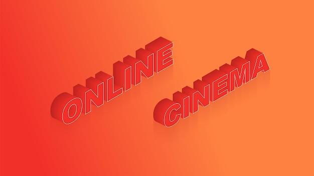 온라인 시네마가 있는 웹사이트용 템플릿 영화 시청을 위한 온라인 응용 프로그램 세트