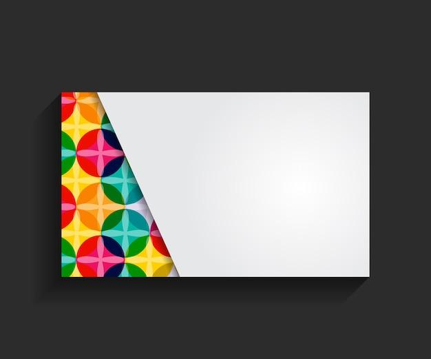 Шаблон для визитной карточки векторные иллюстрации