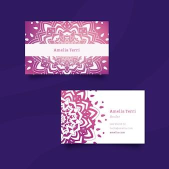 Шаблон для визитки с мандалой