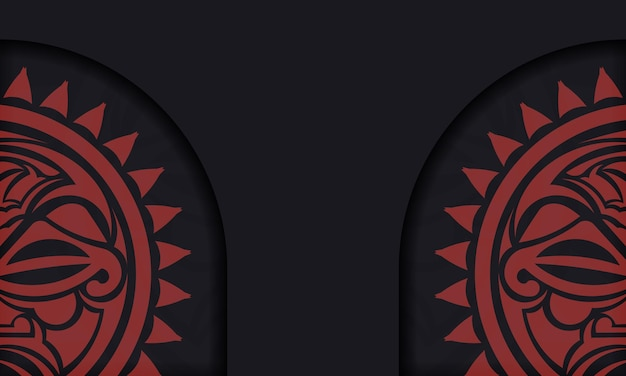 Шаблон для полиграфической открытки в черном цвете с маской богов. вектор подготовьте свое приглашение с местом для текста и лицом в полизенском стиле.