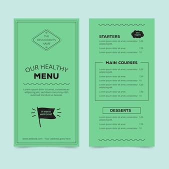 레스토랑 메뉴 디자인을위한 템플릿