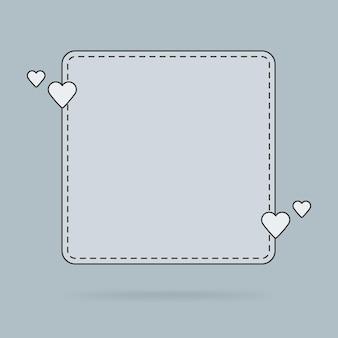 テキストバブルの引用、愛のメッセージ、おめでとうのテンプレート。ベクトルイラスト