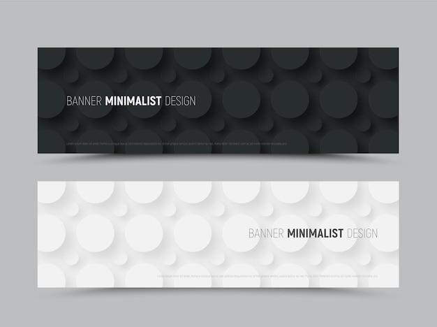 Шаблон для векторных веб-баннеров для сайта в стиле минимализма.