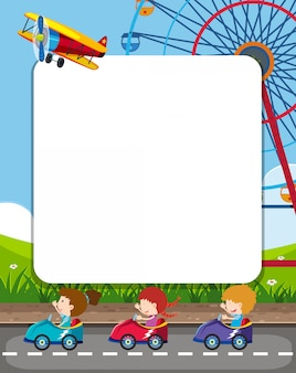 Template frame with amsuement park theme