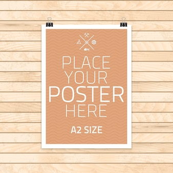 Template of frame with poster