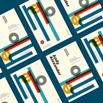 Шаблон забавного графического дизайнера визитной карточки